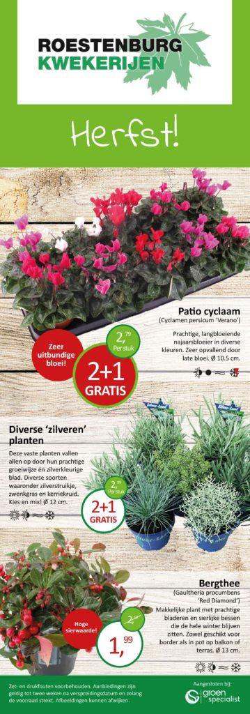 Folder herfst plant aanbiedingen Roestenburg kwekerijen